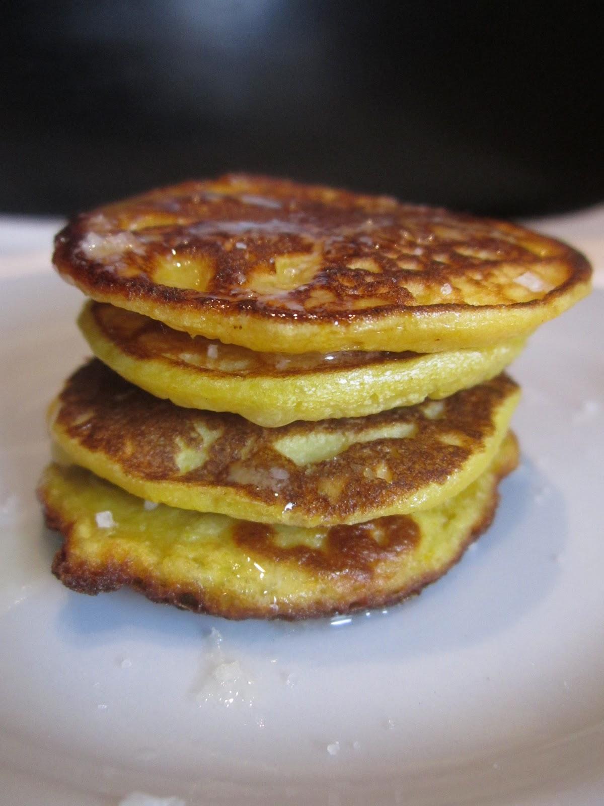 Savory Corn Pancakes   CrunchyGooey