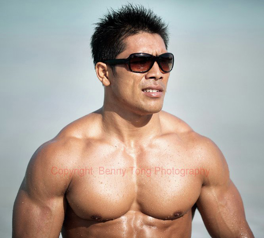 Male Sight Photography of Muscle Asian Model from Indonesia Ketut
