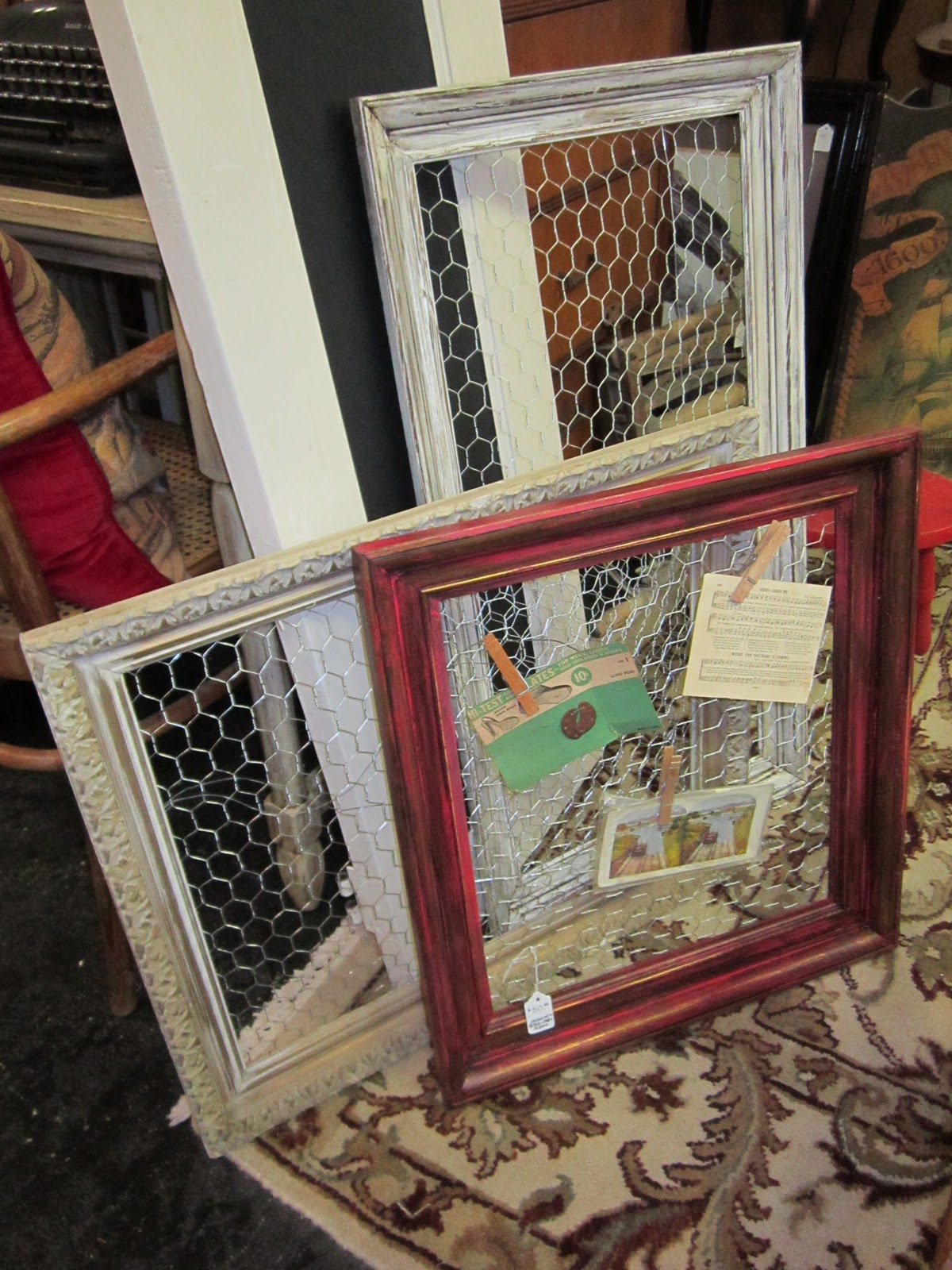Pinterest Picture Frames with Chicken Wire