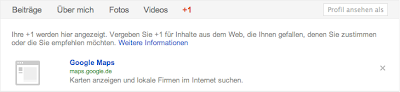 +1-Button im Google+-Profil