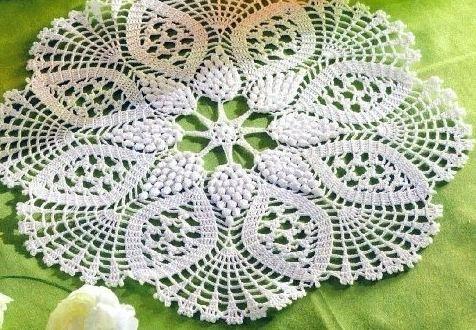 patron de carpeta tejida a crochet