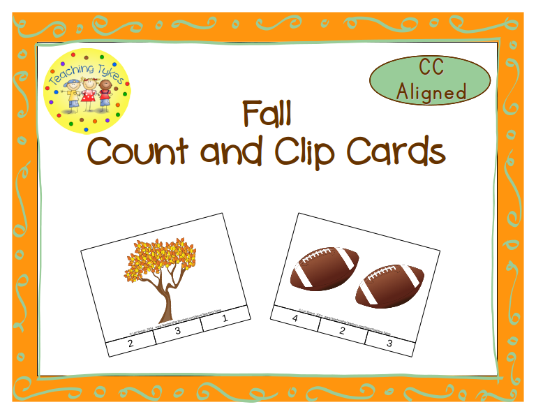 http://www.teacherspayteachers.com/Product/Fall-Count-Clip-Cards-Common-Core-Aligned-903019