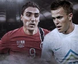VM kvalifisering mellom Slovenia og Norge
