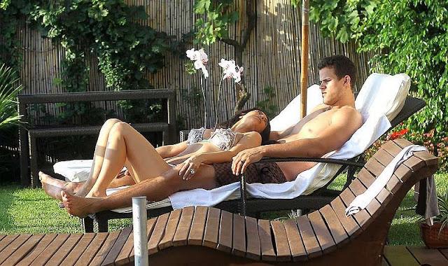 Kim Kardashian in Bikini With Her Husband