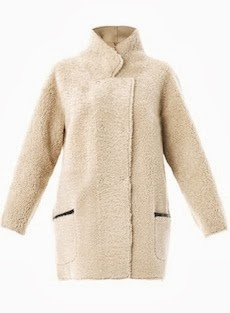INÈS & MARÉCHAL Reversible curly shearling coat