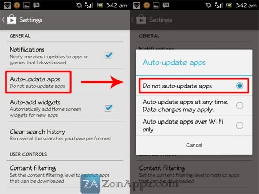Mematikan auto update apps Android