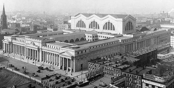 Art now and then stanford white - Penn station madison square garden ...