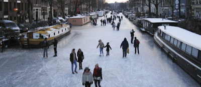 Amsterdam FEB 2012 ice canals