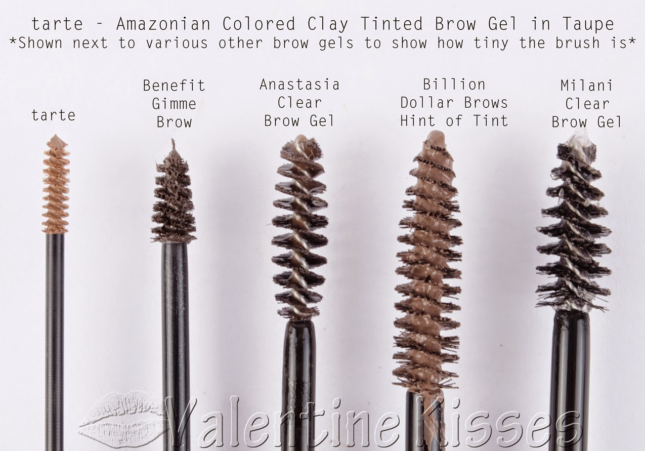 Valentine Kisses Tarte Amazonian Colored Clay Tinted Brow Gel In City Color Quad Medium Taupe Swatches Before After Pics Review