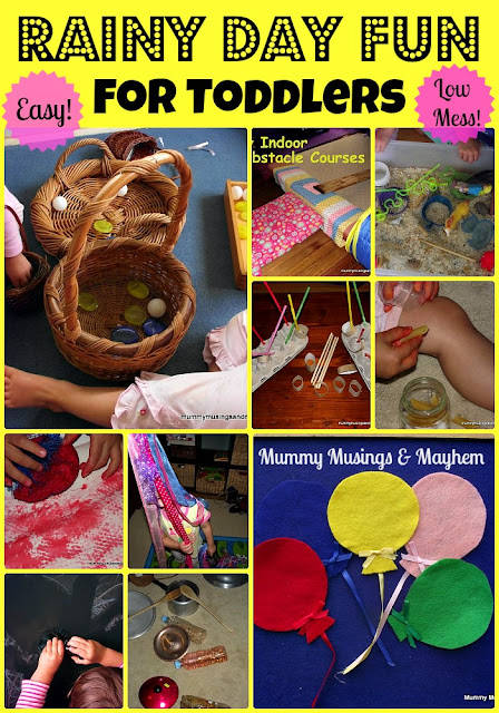 Toddler Rainy Day Fun Activities