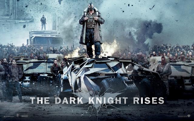 Темный рыцарь, возрождение. Обои на рабочий стол с кадром из фильма