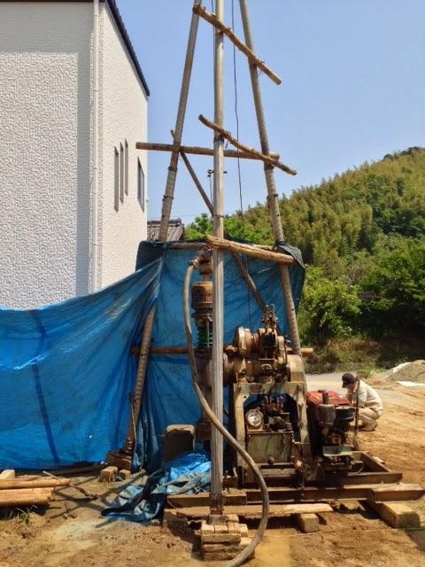 井戸掘り中