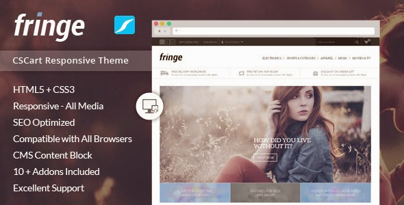 Fringe Responsive CS-Cart Theme