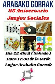 JUEGOS SOCIALES // 22 ABRIL (SÁBADO)