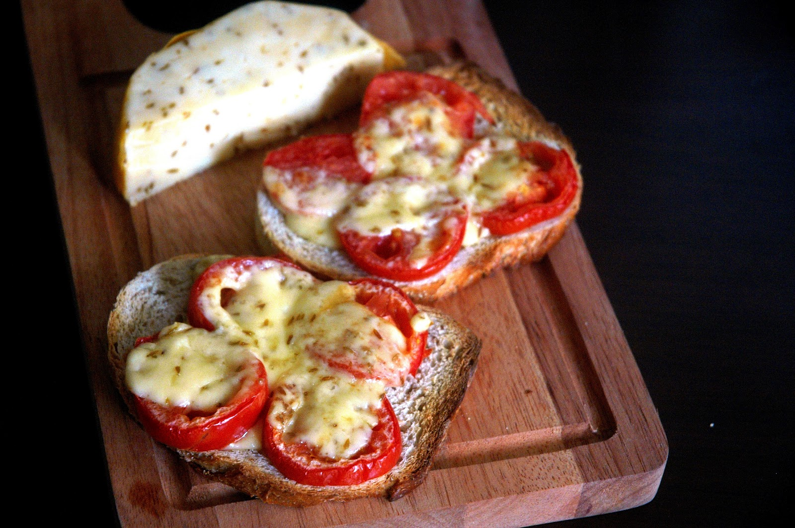 DUDE FOR FOOD: What's in the Fridge...Cheese and Tomatoes on Toast
