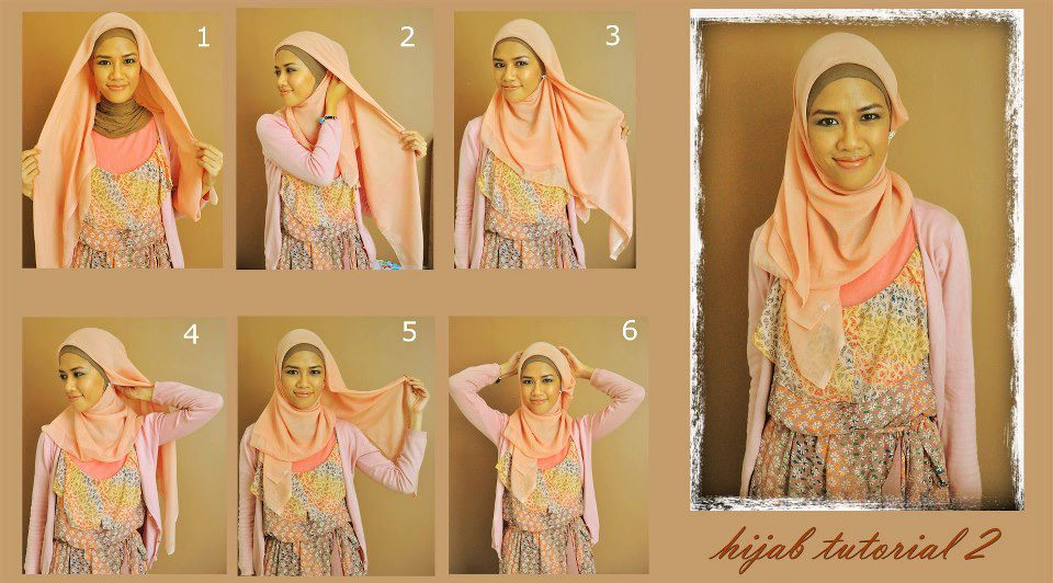 Gambar Cara Memakai Hijab Yang Paling Simple | newhairstylesformen2014 ...