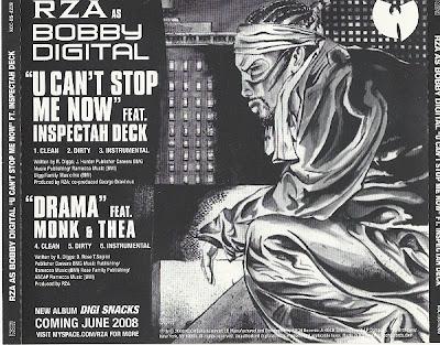 Rza As Bobby Digital – U Can't Stop Me Now / Drama (Promo CDM) (2008) (320 kbps)