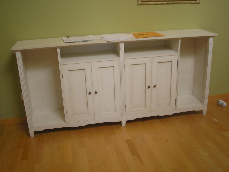 Muebles aparadores lacados en blanco envejecido muebles - Muebles blanco envejecido ...