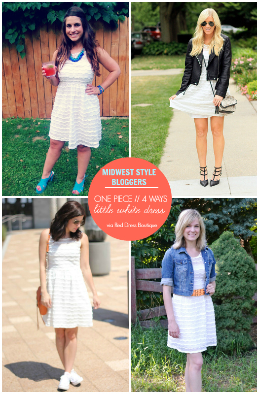 Midwest Style Bloggers: One Piece// 4 Ways: LWD
