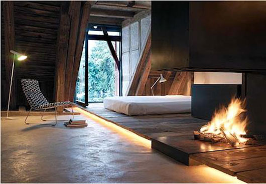 Swiss Modern Apartment Design With Rustic Style By Roger Stussi