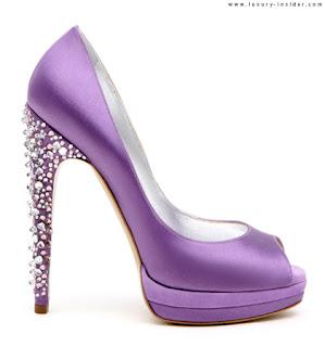 Bling Purple, Lilac heels, crystal heels, Bling shoes