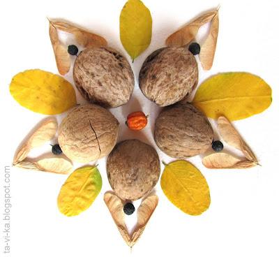 поделки из осенних листьев fall craft
