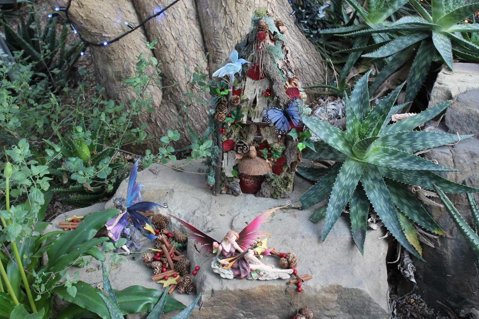 jibberjabberuk fairies in the winter garden