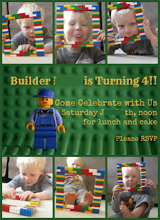 Lego party invitation