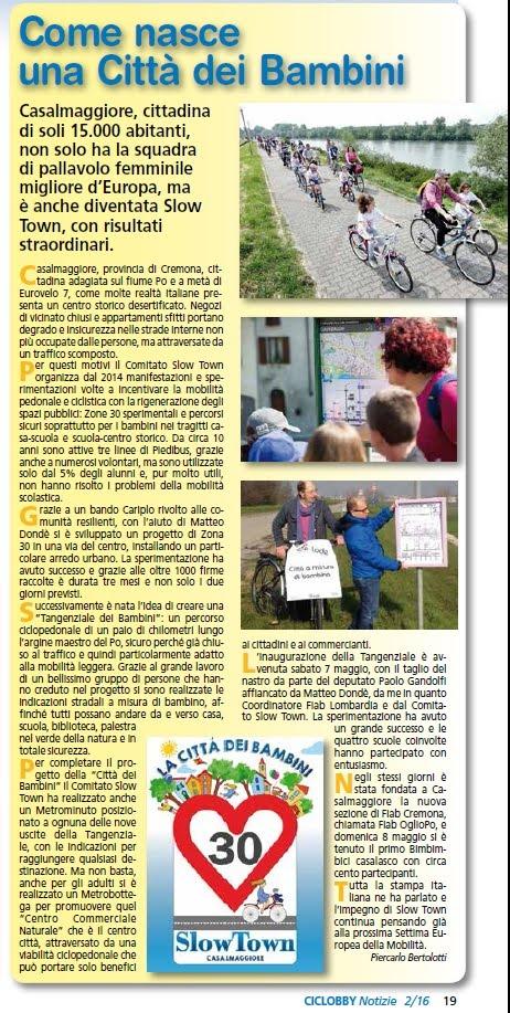 La Rivista Ciclobby Notizie di Milano 2/2016