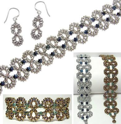 Infinity Bracelet and Earrings