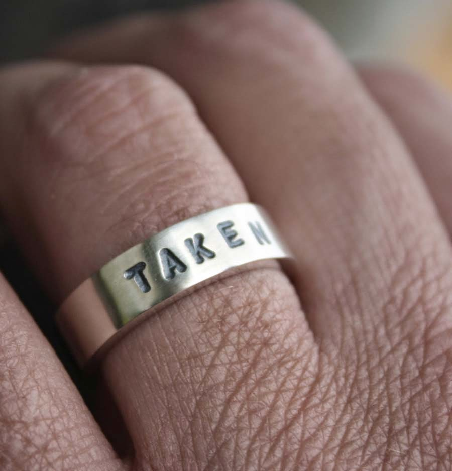 Unique Mens Wedding Rings On Finger Model