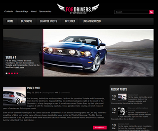 Fordrivers+Blogger+Template