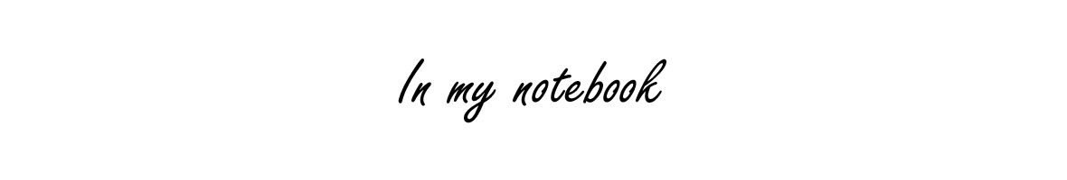 In my notebook