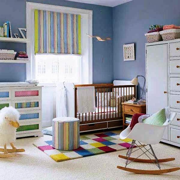 Desain Kamar Tidur Anak Bayi Laki-laki Baru Lahir Sederhana