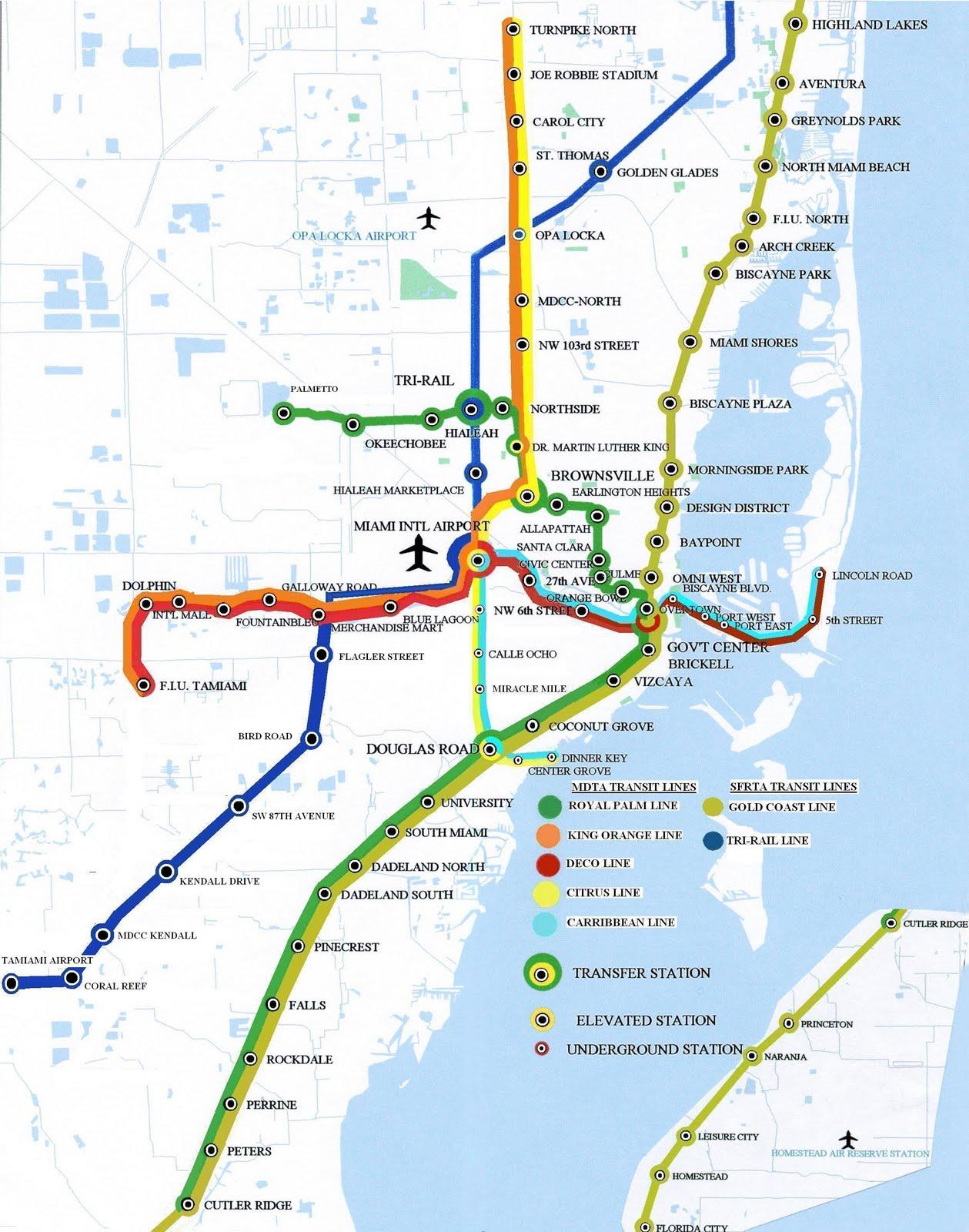 Mapa Metro Miami Florida - Mapa florida