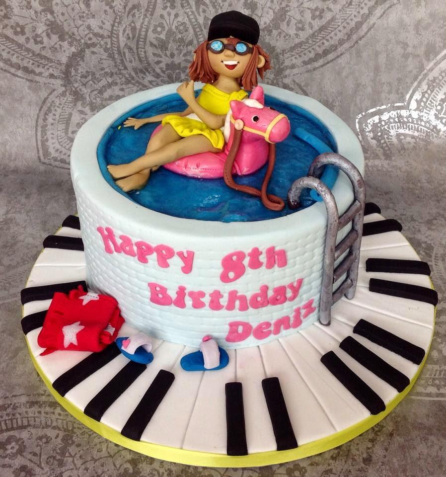 The Perfectionist Confectionist Deniz Swimming Pool Birthday Cake