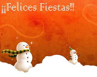Felices fiestas dos muñecos de nieve