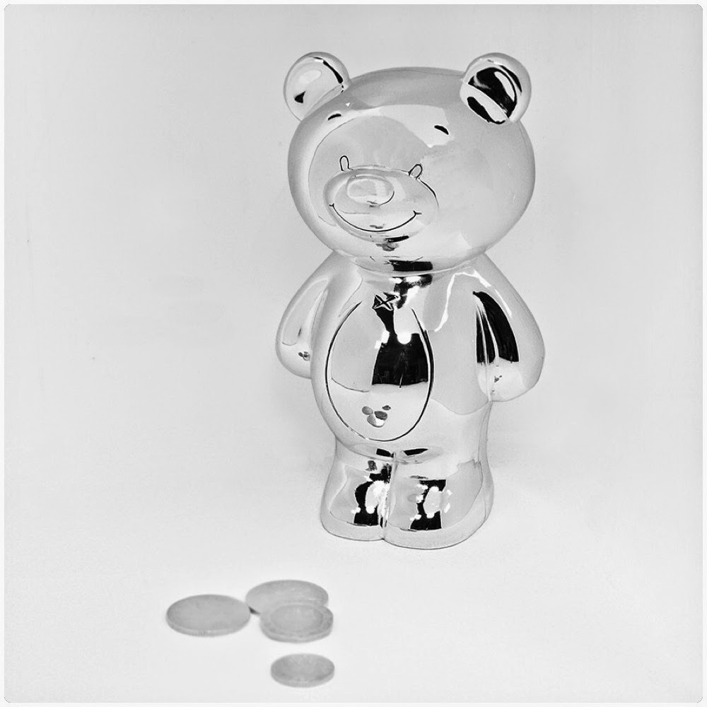 My 1st Years Review Silver Plated Teddy Money Box Keepsake