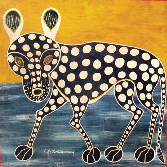 E.S Tingatinga léopard