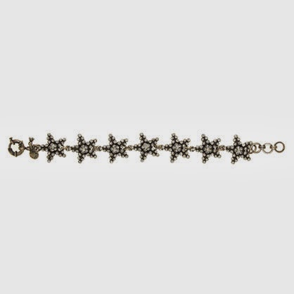 J.Crew black diamond star bracelet