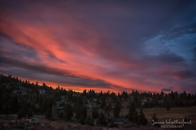 Bend Oregon Sunset Winter Jaime Weatherford