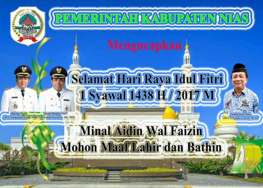 Ucapan Idul Fitri Pemkab Nias