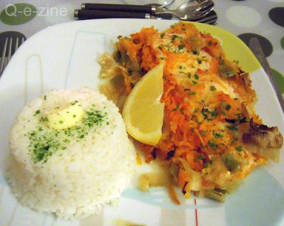 papillotes saumon poireaux carottes