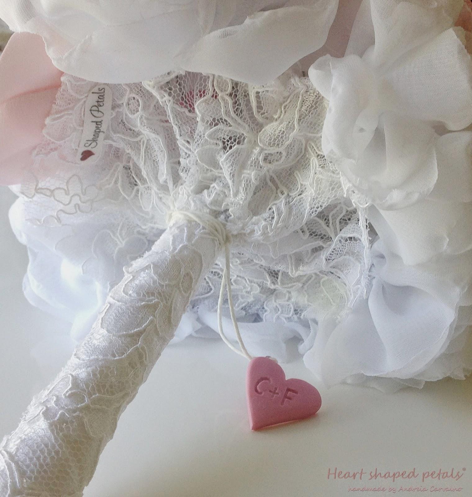 bouquets heart shaped petals