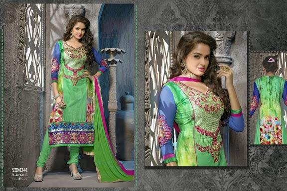 New Fashionable Georgette Embroidered Salwar Kameez