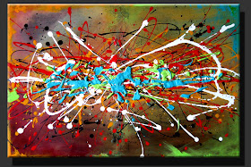 "ABSTRACT PAINTING ""THE WEEKEND""  DORA WOODRUM"