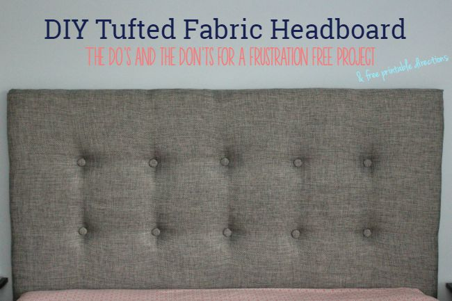 Don't make these mistakes while creating your fabric headboard. Even includes printable instructions so you don't have to keep the post up.