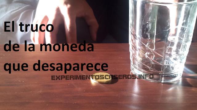 La moneda que desaparece, ilusiones ópticas EXPERIMENTOS CASEROS PARA NIÑOS