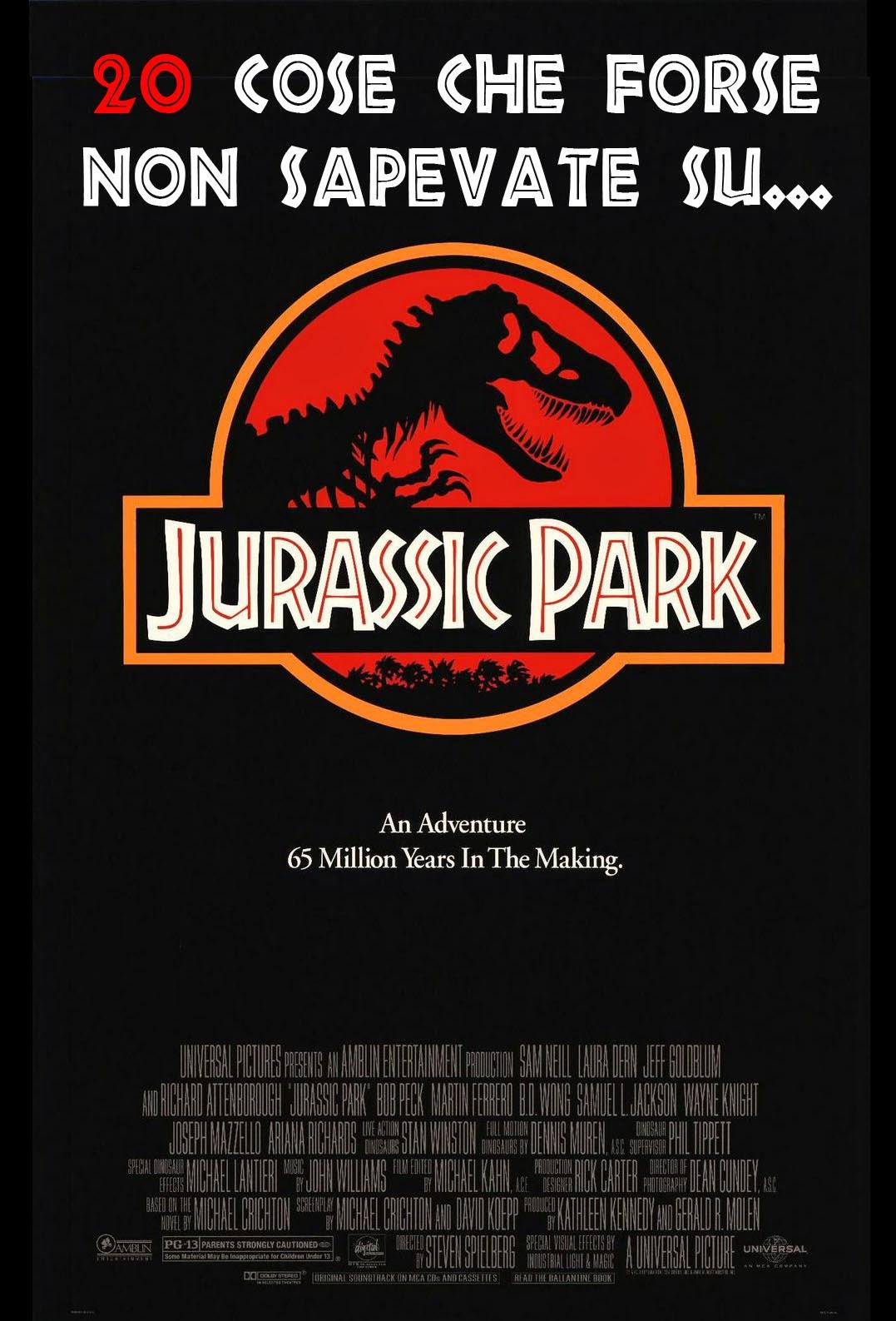 Jurassic Park poster curiosità trivia