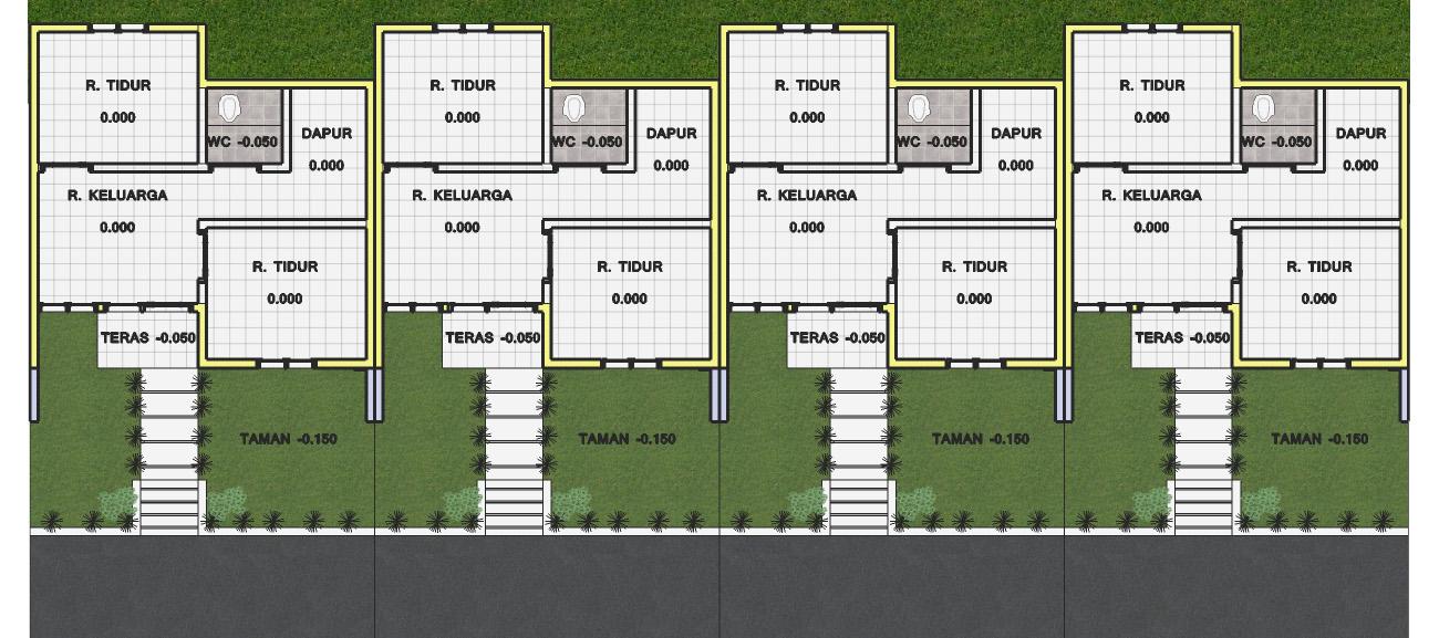 jasa desain bangunan desain rumah type 30 72